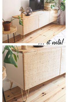 Wir lieben diesen wirklich beeindruckenden IKEA-BESTÅ-Hack von @what.the.hygge. Dieses DIY ist einfach zu schön, um es nicht zu teilen! Du kannst diesen Look selbst nachmachen, indem du diesem Schritt-für-Schritt-Tutorial der lieben Jenny folgst.  Hier gesehen: Harald 170 Brass & Stina 40. #pimpyourbesta #myprettybesta #prettypegs Diy Interior, Furniture Legs, Furniture Makeover, Ikea Pax, Diy Décoration, Decorating On A Budget, Diy Storage, Diy Hacks, Home And Living