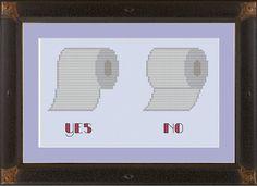 Toilet paper hanging protocol: funny by nerdylittlestitcher