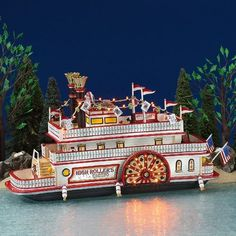 Dept. 56 HIGH ROLLERS RIVERBOAT CASINO