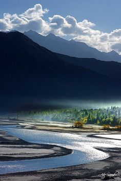 Indus River at Khaplu,Pakistan
