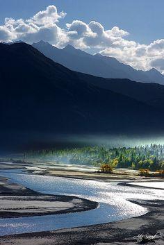 Indus River at Khaplu, Pakistan
