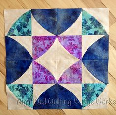 My 13th block by Night Owl Quilting, via Flickr