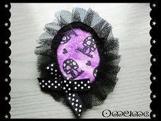 broche setas lila