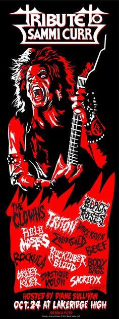 TRICK OR TREAT (1986) SAMMI CURR Prints and T-shirts Trick Or Treat 1986, Trick Or Treat Movie, Rock Posters, Band Posters, Horror Movie Posters, Horror Movies, 80s Hair Metal, Glam Metal, Metal Art