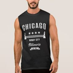 Chicago Sleeveless Shirt - vintage gifts retro ideas cyo