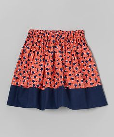 This Coral & Navy Whale Watching Skirt - Infant, Toddler & Girls is perfect! #zulilyfinds