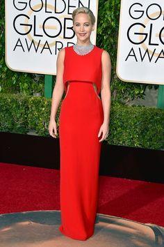 Jennifer Lawrence en robe Christian Dior