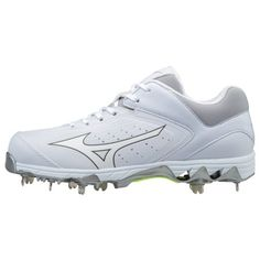 Mizuno Women's Swift 5 Fast-Pitch Softball Cleats (White, Size - Women's Softball Shoes at Academy Sports Softball Shoes, Softball Gear, Softball Workouts, Softball Uniforms, Softball Cleats, Metal Baseball Cleats, Baseball Shoes, Fastpitch Softball, Softball Clothes