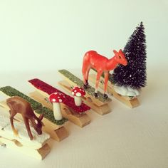 Look what I made - Glitter Clothespin Ornaments