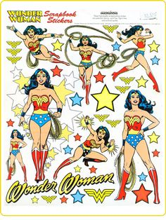 Wonder Woman stickers by Creative Imaginations. I need these for a project I'm working on.