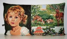 UNIQUE French Silk  Needlepoint Tapestry & by Retrocollects,