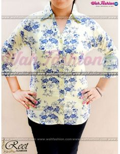 Take your summer look a notch higher with this Light Yellow Flower Printed Cotton Shirts from Reet Glamour. The interesting print of this shirt make it visually appealing. Ensuring good comfort and smoothness is the 100 % cotton fabric of this shirt. You can team this shirt with a pair of pants and wedges to look.  For more details whatsapp us: +919915178418