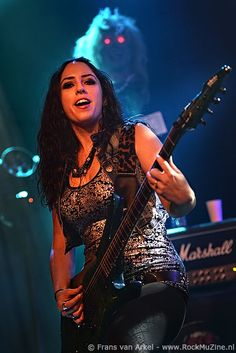 Nikki Stringfield – guitar -The Iron Maidens Eddie The Head, 80s Hair Metal, Rock And Roll Girl, Women Of Rock, Cover Band, Guitar Girl, Goth Beauty, Female Guitarist, Metal Girl
