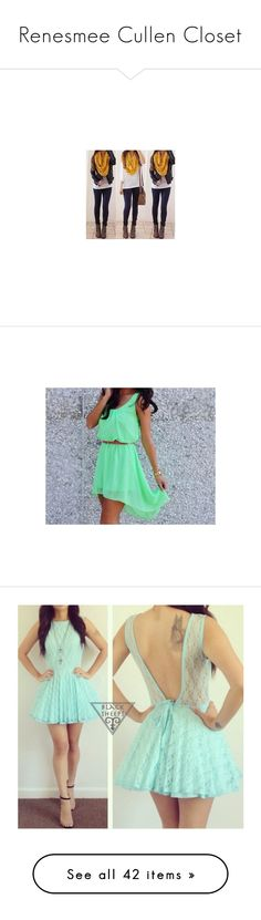 """""""Renesmee Cullen Closet"""" by livi-xx ❤ liked on Polyvore featuring outfits, full outfits, dresses, green dress, neon green dress, neon dresses, vestidos, pics, mint dress and mint lace dress"""