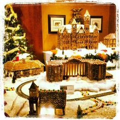 The Auburn Gingerbread Village presented by The Hotel at Auburn University -- caught on Instagram @auburnalumni