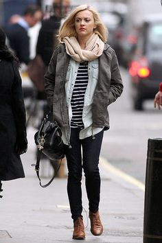 Fearne Cotton 2012 - combination of colours.and the layering Fearne Cotton, Denim Trends, Fashion Outfits, Womens Fashion, Fashion Fashion, Fashion Jewelry, Cotton Style, Autumn Winter Fashion, Winter Style