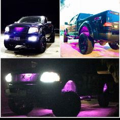 Pink Ford F-150 FX4 girl truck #ford #lifted #pinktruck