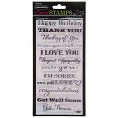 Stampabilities Clear Stamps-Card Phrases