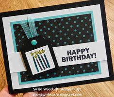 Birthday Blast, Man Birthday, Homemade Birthday Cards, Wink Of Stella, Stamping Up, Greeting Cards Handmade, Paper Design, Stampin Up Cards, Cardmaking