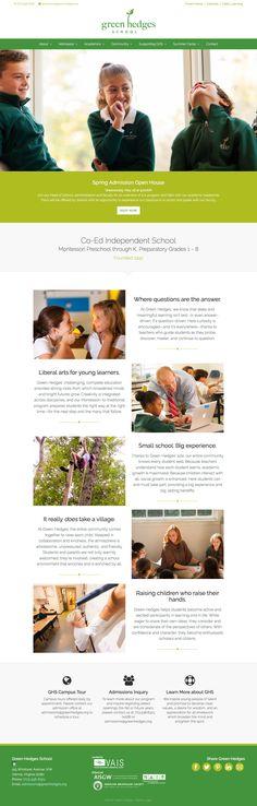 Spring School, Wordpress Theme, Web Design, Design Inspiration, Template, Layout Inspiration, Design Web, Vorlage, Model