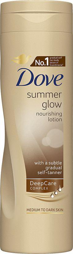 LUONNOLLISTA HEHKUA! Dove Summer Glow -kosteusvoide 250 ml hoitaa ihoasi samalla kun se asteittain vahvistaa luonnollista ihonväriäsi. Sokos ja Emotion.