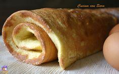 Ricetta pasta biscotto. La pasta biscotto, detta anche pan di spagna arrotolato, è una base morbida usate per preparare deliziosi rotoli dolci