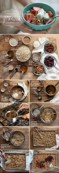 Home Made Honey-Nut Granola (easy to adapt the ingredients for any diet).