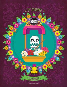 Xochimilco Mexican Art, Mexican Style, Mexico Day Of The Dead, Adornos Halloween, Lupe, Buzz Lightyear, Cute Little Things, Youre Invited, Sugar Skull