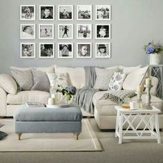 10 Pretty Practical Feminine Living Room Ideas Perhaps not all of my feminine living room choices are practical but they are certainly pretty! I still haven't purchased a sofa for my living room. it's a big expense and I'm terrible at making decisions. Design Living Room, Living Room Grey, Living Room With Corner Sofa, Fancy Living Rooms, Grey Corner Sofa, Living Spaces, Home And Deco, Shabby Chic Homes, Shabby Chic Interiors