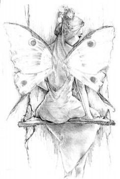 Beautiful fairy sketch