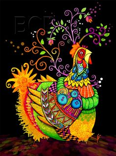 The colors and beauty of this chicken, bring out the chicken love in my heart!