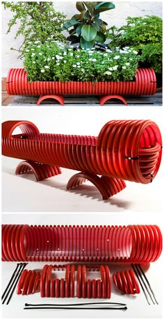 DIY: colorful PVC pipe planter #DIYPipePlanter, #PvcPipePlanter, #ReclaimedPlanter