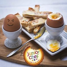 Boiled egg served in an egg cup with slim strips of buttered toast is one of life's great culinary treats. Good for breakfast or for lunch with cheese blocks etc. Boiled Eggs, Allrecipes, Toast, Brunch, Slim, Cheese, Breakfast, Collection, Deviled Eggs