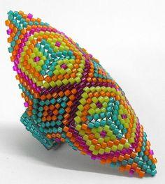 Peyote Stitch  Rings Beading Pattern Mad Rings 2