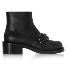 Currently craving: Givenchy embellished black leather ankle boots - LaiaMagazine