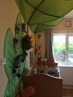 Jungle Travel themed baby boy bedroom
