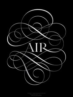 Two posters featuring R and Air.. Air poster was borned from desire to punctually produce forms outside the context of a client tender specifications.. ZeCraft Smart and seductive typographic tools to help to build blended, unforgettable brand experiences.
