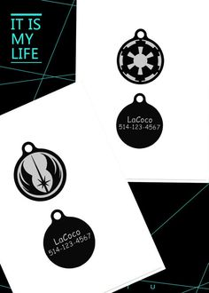 Star war Jedi Order/Quiet dog tag Plastic pet tags by LaCoco725