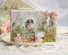 Crafting Life's Pieces, secret garden, sarah kay, stamp, mixed media, altered art