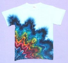 Tie Dye Techniques | Rainbow-Black Rising Star Tie-Dye T-shirts by Dyed in Vermont
