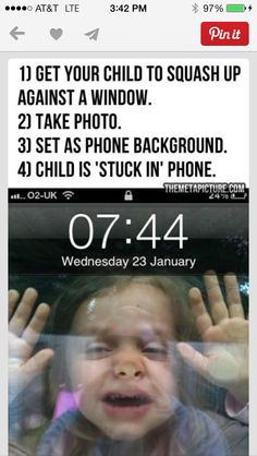 Kids stuck in the phone