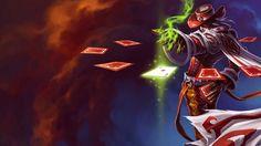 Twisted Fate League of Legends Jack of Hearts Splash Skin HD Image