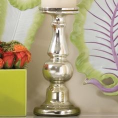 Baluster Glass Candlestick