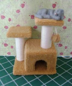 even though I know there aren't any Borrower sized cats  how to: cat tree
