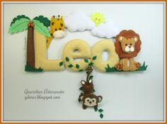 Banner Safari para o Leo... - Gracinhas Artesanato