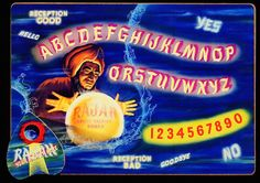 Rajah Spirit Talking Board, Clinton Art Products, Chicago, c. Dangerous Minds, Fortune Telling, Third Eye, Boards, Neon Signs, Awesome, Vintage, Gypsy, Chicago