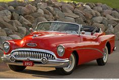 1953 Buick Skylark Convertible - a classic automobile. Buick Roadmaster, Buick Skylark, Auto Retro, Retro Cars, Cars Vintage, Antique Cars, Cadillac, Buick Cars, Convertible