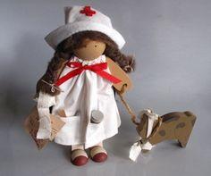 Vintage Lizzie High Wooden Nurse