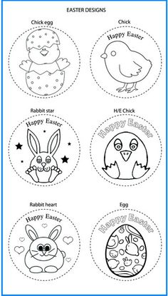 Easter Mixed Designs - Colour In Yourself Badges Rainbows, Happy Easter, Badges, Colour, Prints, How To Make, Design, Art, Book