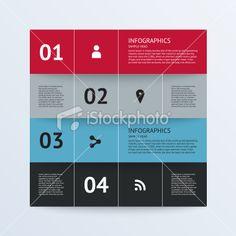 Modern Design template for infographics, banners, graphic or website Lizenzfreie Vektorillustrationen